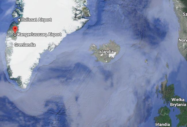Mapa Grenlandii